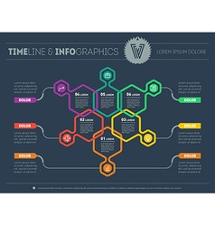 Web Template of a pyramidal chart diagram or vector image vector image