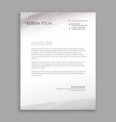 Clean minimal letterhead design vector
