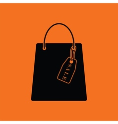 Shopping bag with sale tag icon vector