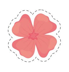 geranium flower color cut line vector image