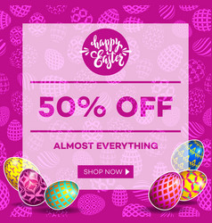 Easter egg sale banner background template 16 vector