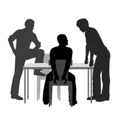 interrogation vector image