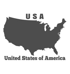 United states of america usa - high detailed map vector