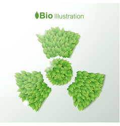 Nature abstract eco concept vector
