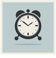 Alarm Clock on Retro Blue Background vector image