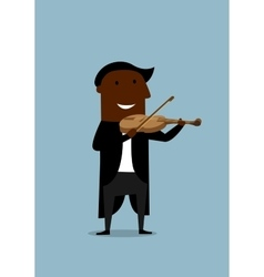 Musician violinist playing a violin vector
