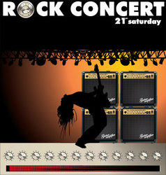 Rock concert wallpaper vector