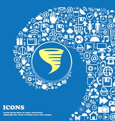 Tornado icon nice set of beautiful icons twisted vector