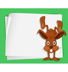 Cartoon paper space bunny vector