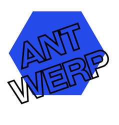 Antwerp sticker stamp vector