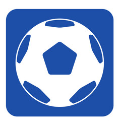 blue white sign - classical football soccer ball vector image