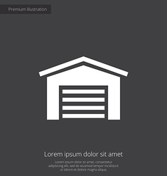 Car garage premium icon vector