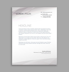 Clean minimal letterhead design vector