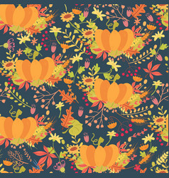 colorful pumpkins seamless pattern vector image vector image
