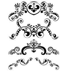 Decorative floral ornament7 vector