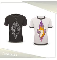 design tshirt fox vector image