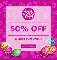easter egg sale banner background template 16 vector image vector image