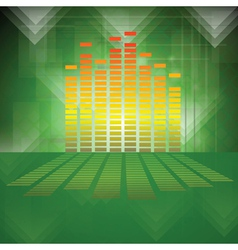equalizer on green background vector image