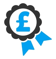 Featured Pound Price Label Flat Icon Symbol vector image