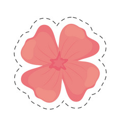 geranium flower color cut line vector image