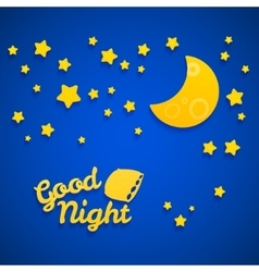 Good Night Bed Time for Children vector image