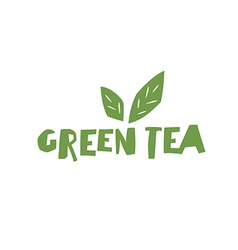 Green Tea Cup of Tea and text Green Tea Isolated vector image