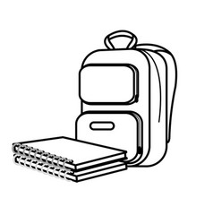 Isolated bag design vector
