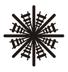 Isolated snowflake icon vector