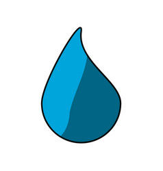 Isolated water drop vector