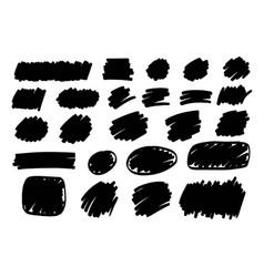 marker paint ink brush stroke text mark frame vector image vector image
