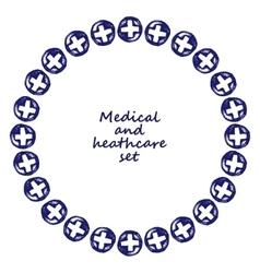 Medicine doodle frame vector