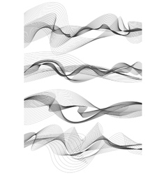 Music sound waves set vector image vector image