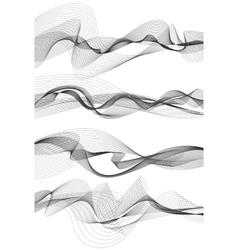 Music sound waves set vector