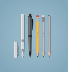 Pen and pencil vector image vector image