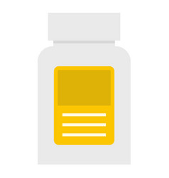 Pharmaceuticals bottle icon isolated vector