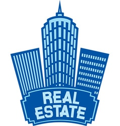 Real estate sign vector
