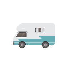retro camper trailer vector image vector image