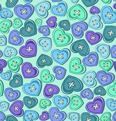 Seamless pattern of sewing buttons vector image