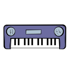 synthesizer icon cartoon vector image vector image