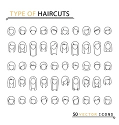 type of haircuts vector image
