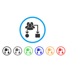 user routing scheme rounded icon vector image vector image