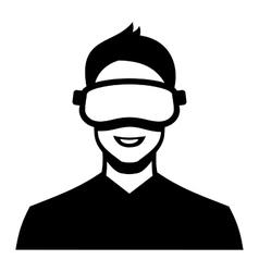 Virtual Reality Headset Icon vector image