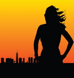 woman and the city vector image vector image