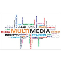 Word cloud multimedia vector