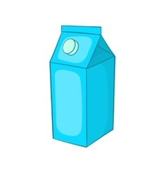 Milk carton icon cartoon style vector
