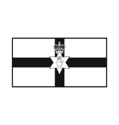 Northern ireland flag monochrome on white vector