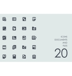 Set of documents and files icons vector