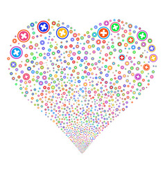 Pharmacy fireworks heart vector