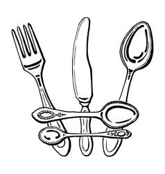 Cutlery - crown vector