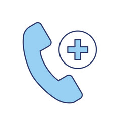 Blue emergency call cartoon vector